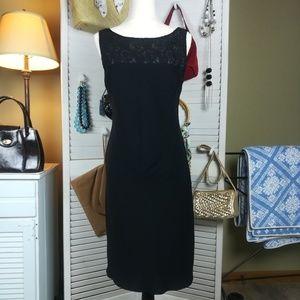 Scarlett LBD Lace Front & Drape Back Dress